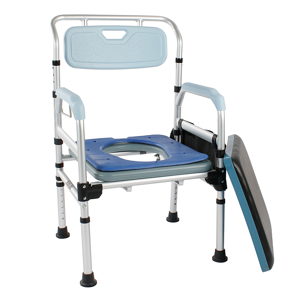 Foldable Comfortable Bedside Commode Chair Soft Padded Shower Seat ...