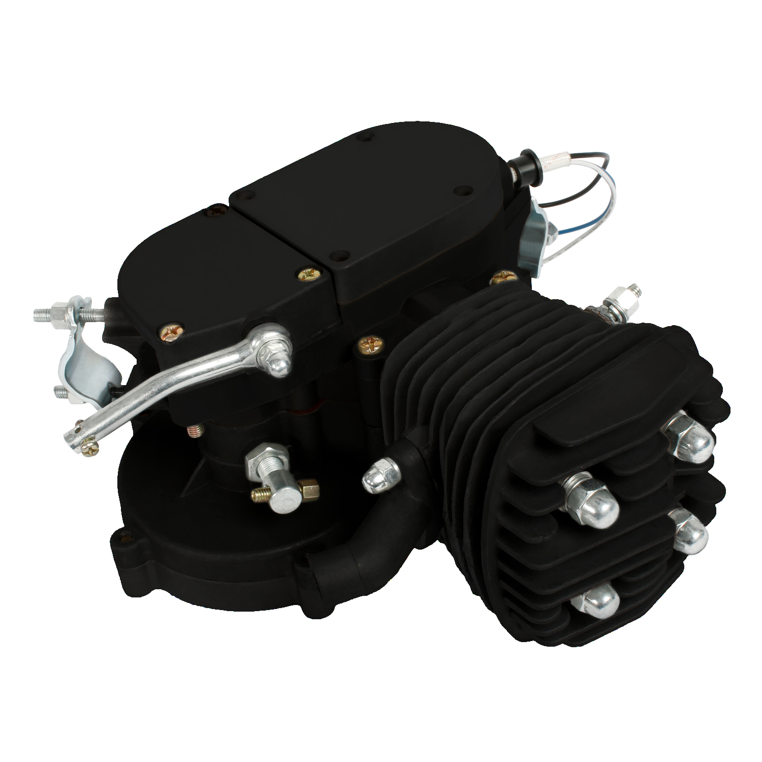 Details about Hot Sale 80cc 2 Stroke Motor Engine Kit Gas for Motorized  Bicycle Bike Black New