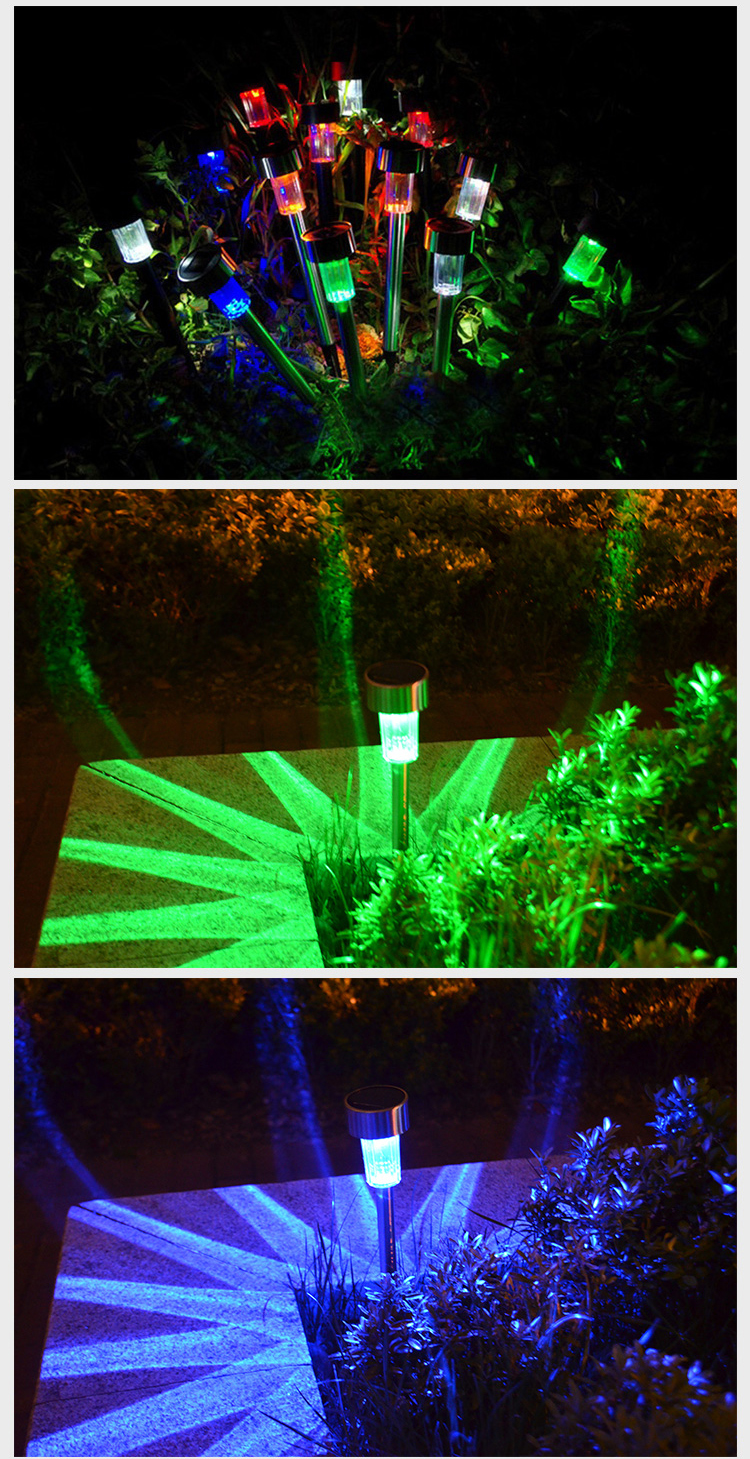 led path lights 5x new solar led path light outdoor garden lawn multi 29984