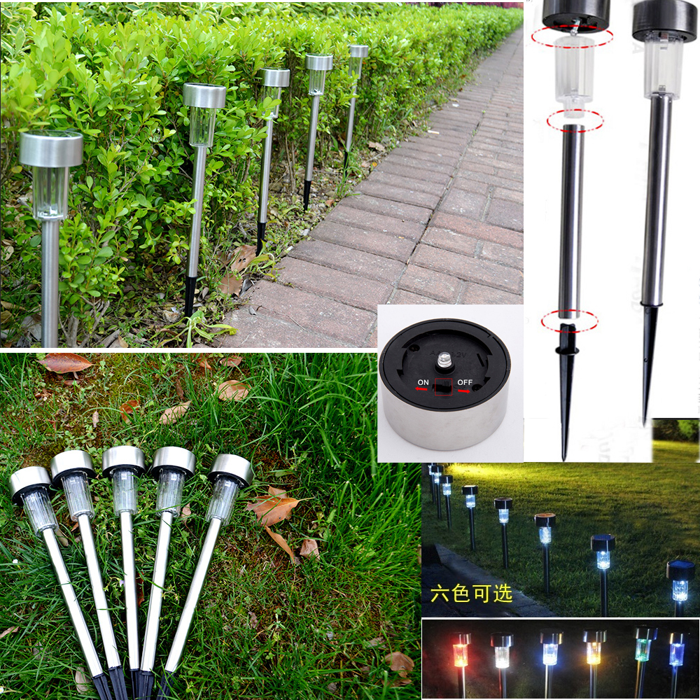 Set Of 25: Solar LED Path Light Outdoor Garden Lawn Multi
