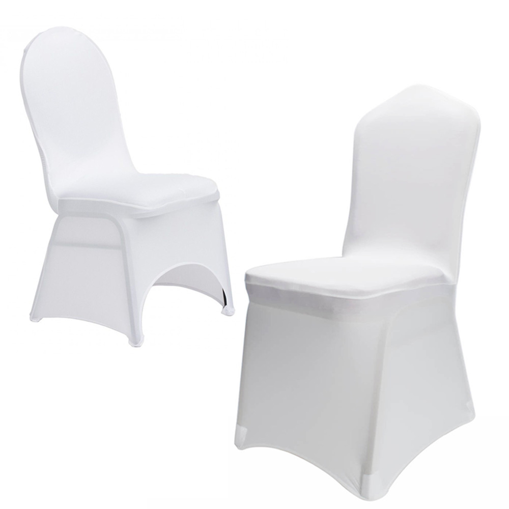 Strange Details About New 100Pcs Universal Polyester Spandex Wedding Chair Covers White Or Black Gmtry Best Dining Table And Chair Ideas Images Gmtryco