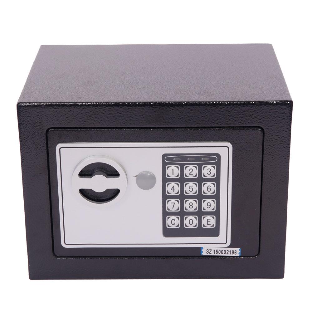 new electronic digital safe box keypad lock home office hotel hide cash black ebay. Black Bedroom Furniture Sets. Home Design Ideas