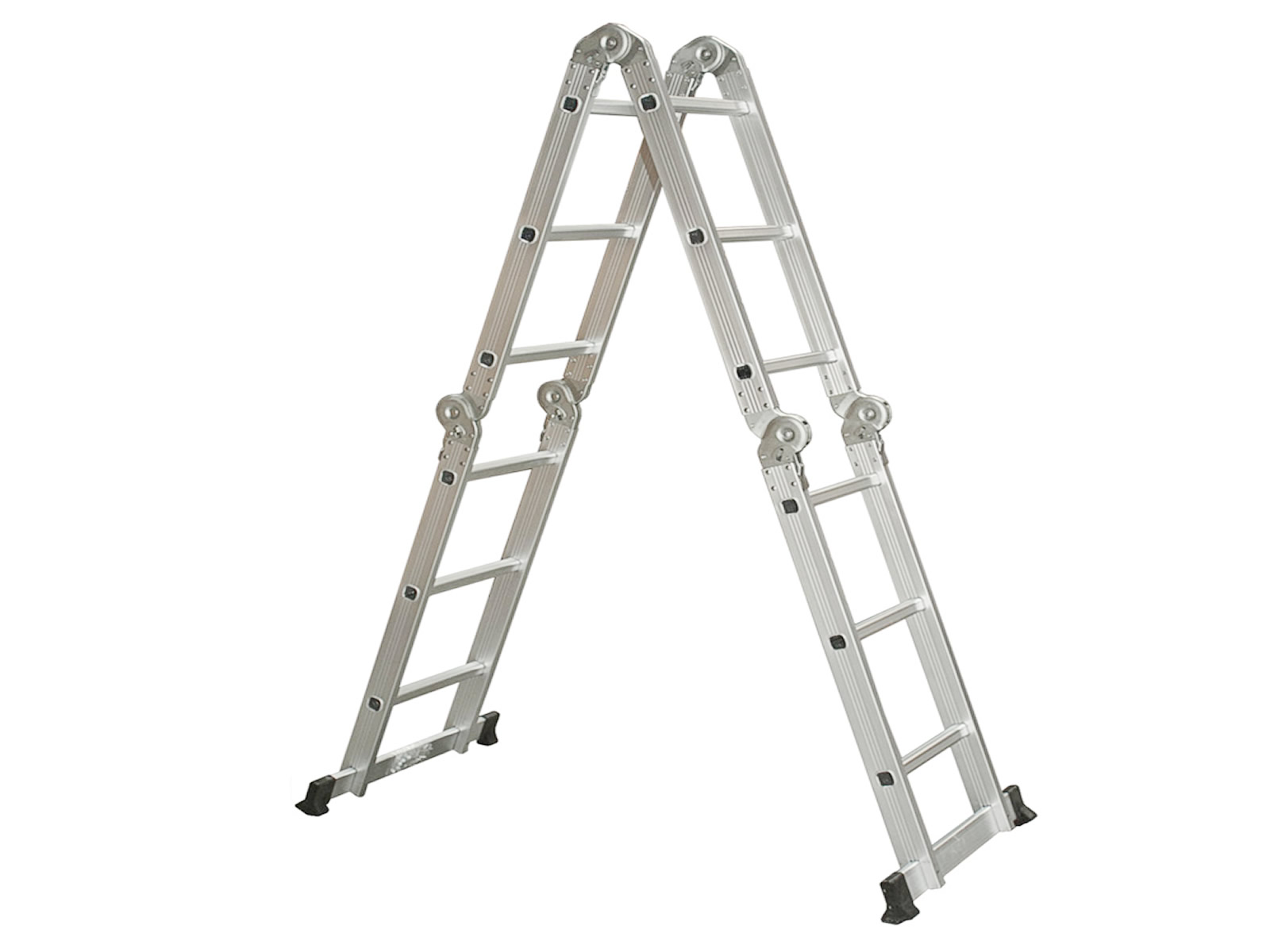 Collapsible Ladder 10 Ft : Folding ladder aluminum ft multi purpose extension