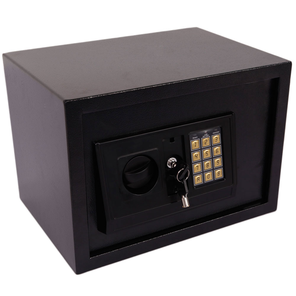 small safe box digital electronic keypad lock depository security home gun lock ebay. Black Bedroom Furniture Sets. Home Design Ideas