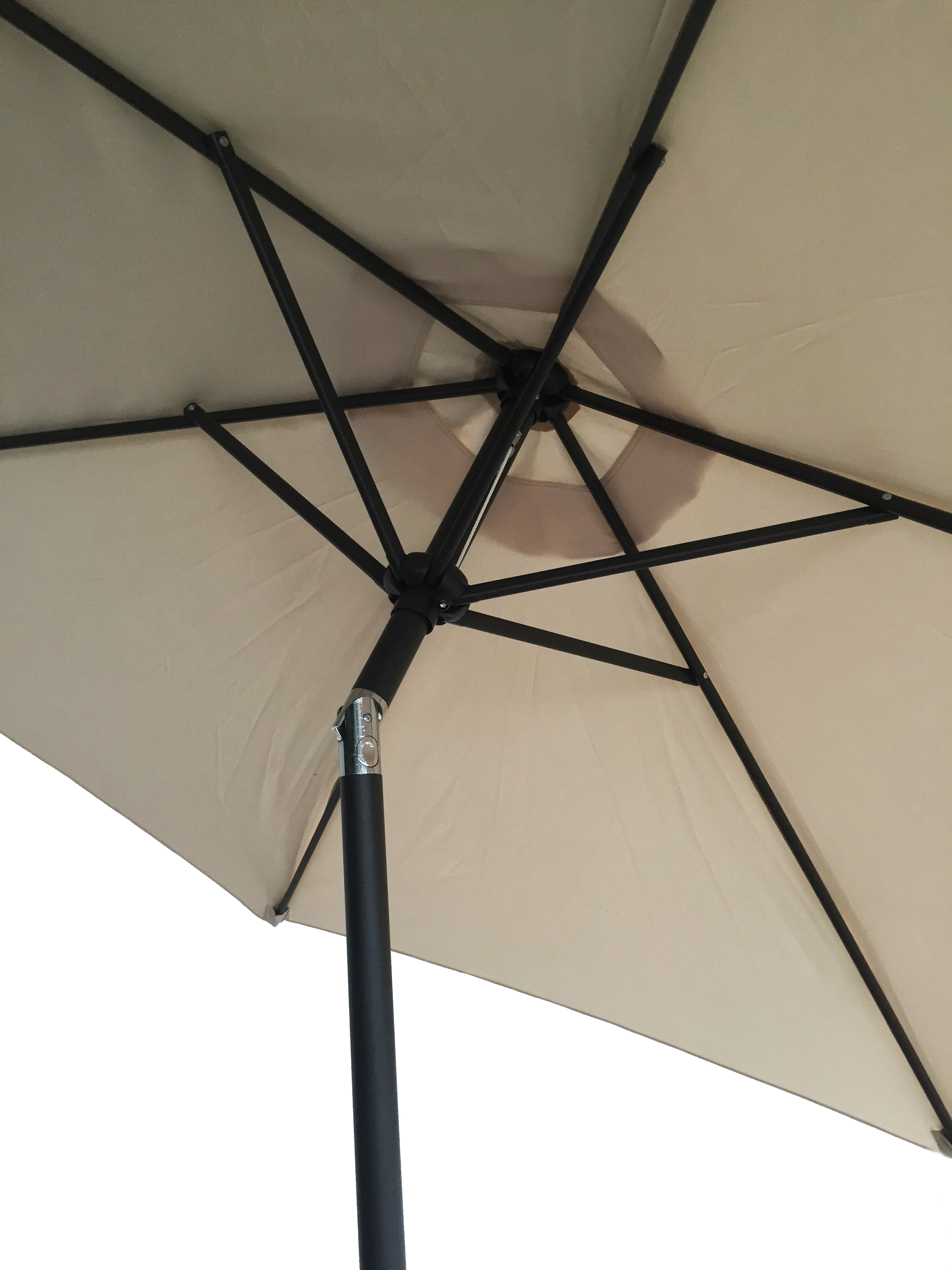 Patio Umbrella Crank Diagram: 9FT Aluminum Patio Umbrella Market Sun Shade Steel Tilt W