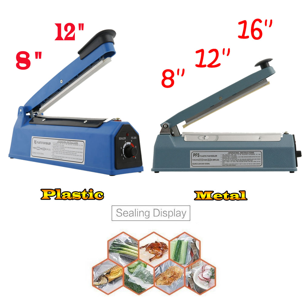 Manual and industrial bag sealer. Main types of equipment 2