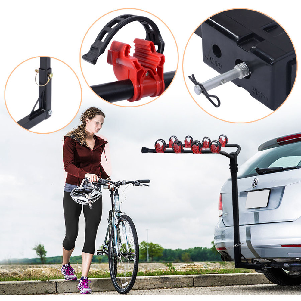 Heavy Duty 2 Bicycle Bike Rack Car Swing Down SUV Truck