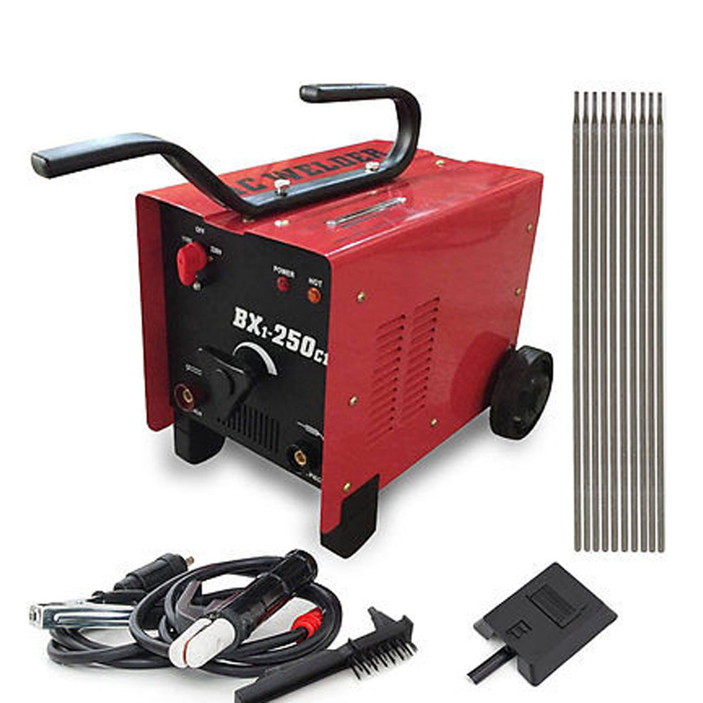 Bx1 250c1 Arc Welder 110 220v Ac Welding Machine 250 Amp Mask Diagram Accessories Red