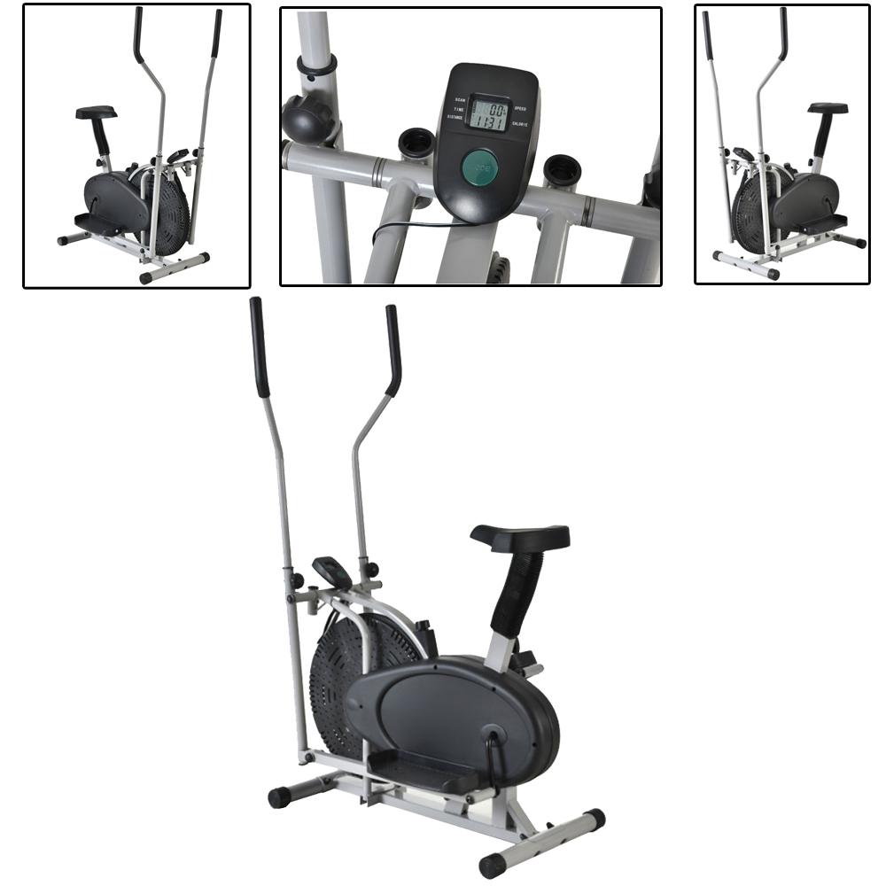 Elliptical Bike Types: 2 IN 1 Cross Elliptical Bike Indoor Exercise Trainer