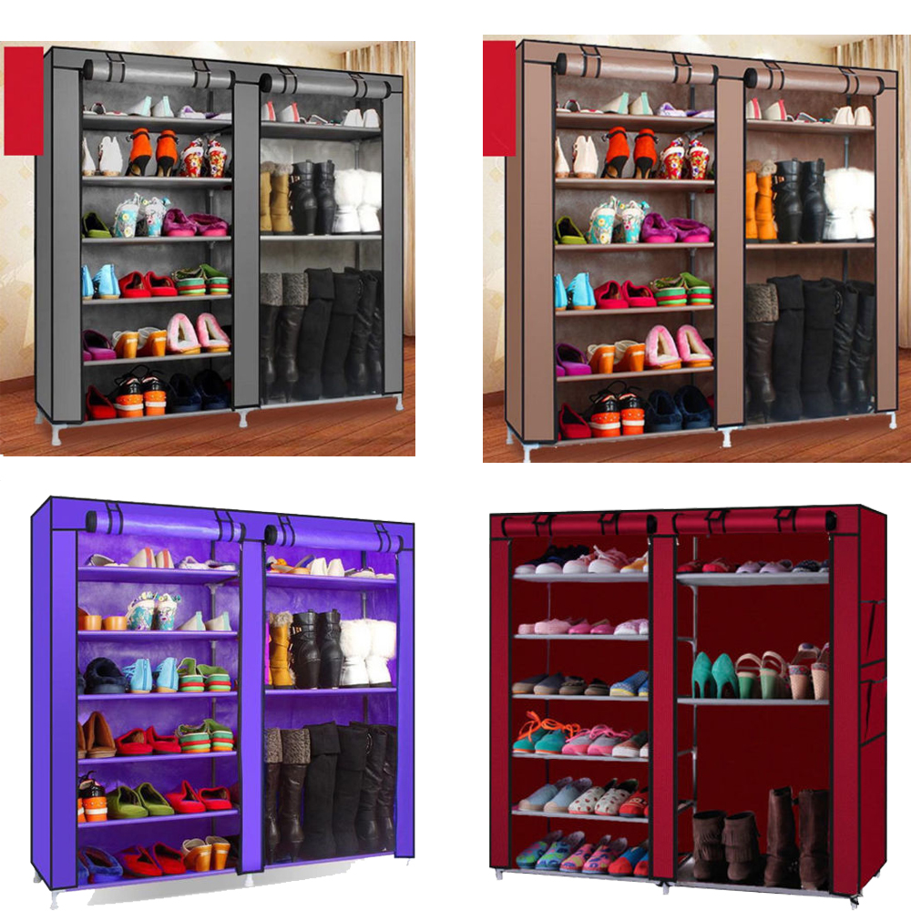 high quality shoe rack shelf portable storage closet. Black Bedroom Furniture Sets. Home Design Ideas
