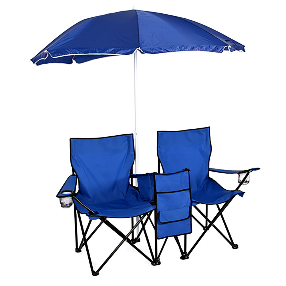 Foldable Picnic Beach Camping Double Chair Umbrella Table