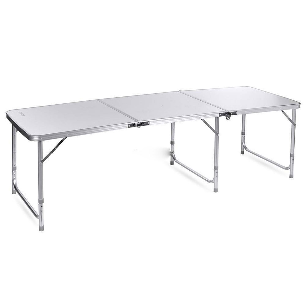 Ft Aluminum Folding Table Camping Wedding Party Patio Portable Outdoor Bbq