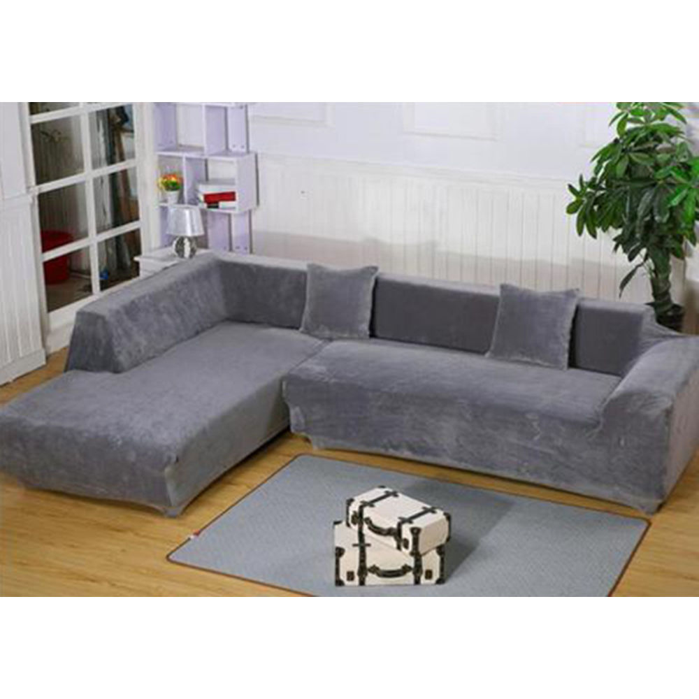 Durable Stretch Elastic Fabric Sofa Cover Sectional Corner Couch Covers NEW