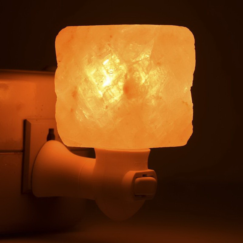Lots Crystal Himalayan Natural Carved Salt Night Lamp Air Purifier Wall Light