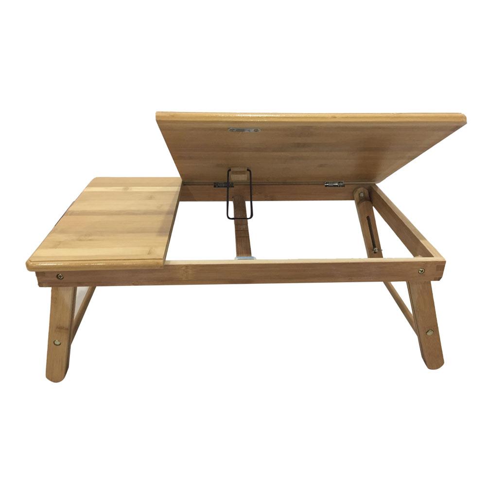 Lap Desk Wood Folding Tray Table Drawer Breakfast Bed Food