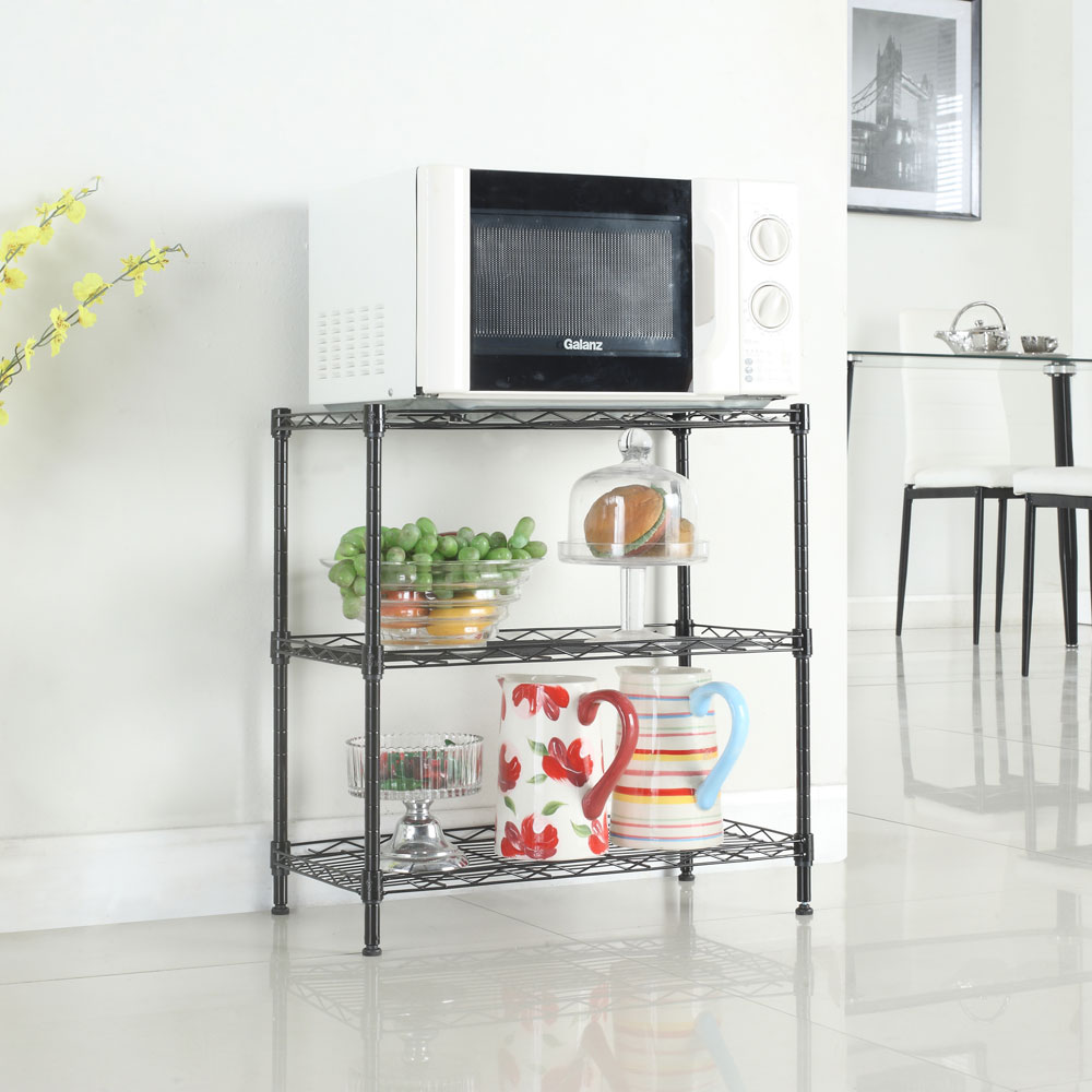 Kitchen Baker Rack Utility Microwave Oven Stand Storage