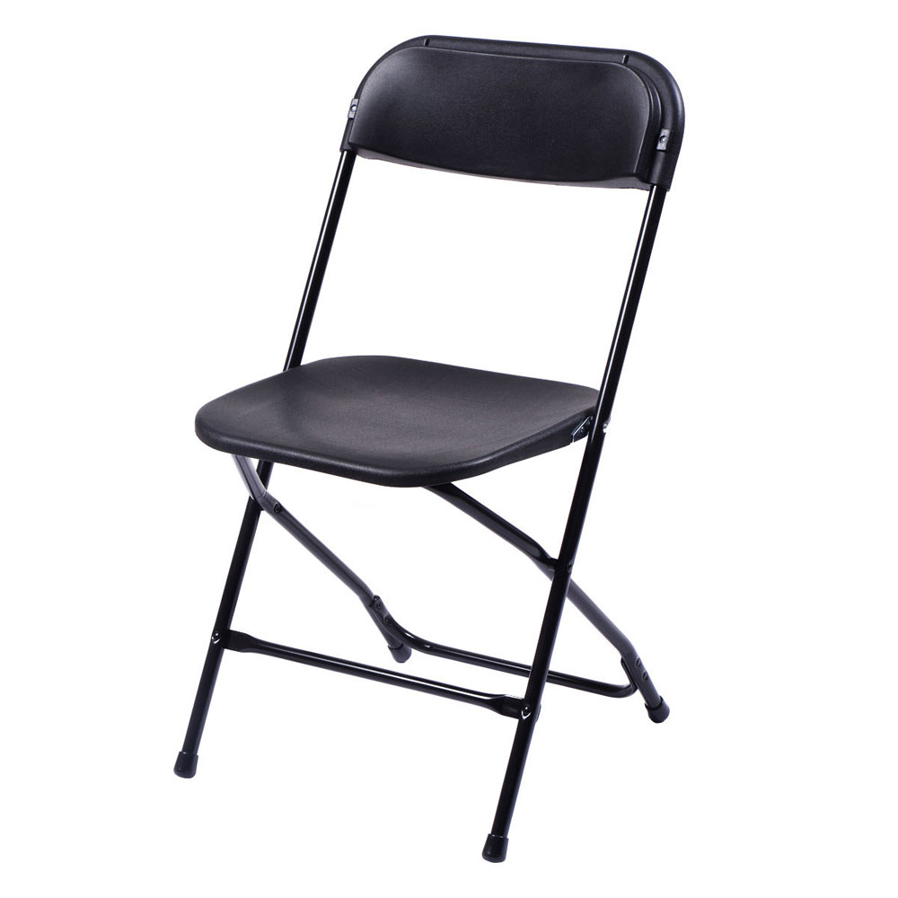 White plastic folding chairs -  10 Pack Commercial Wedding Quality Stackable Plastic Folding Chairs Black