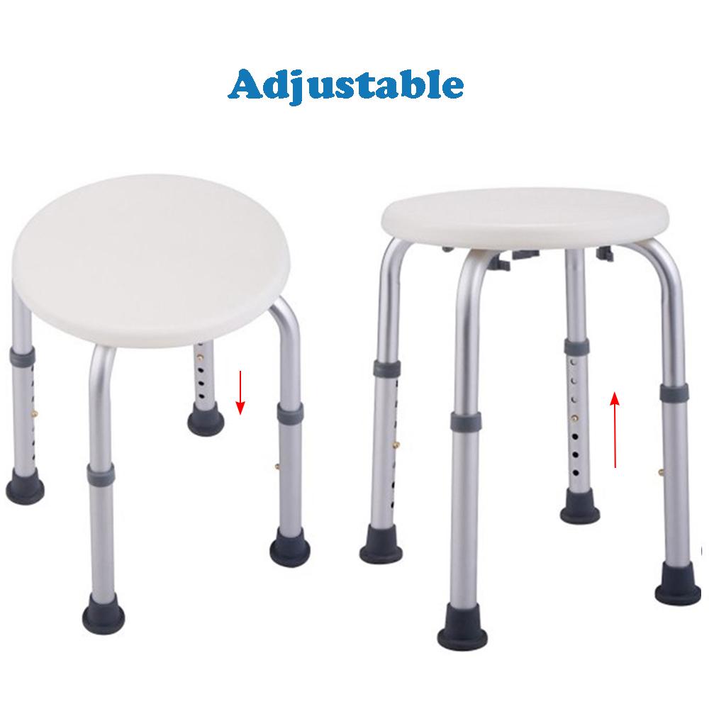 New Adjustable Medical Shower Chair Bath Tub Round Seat Shower Stool ...