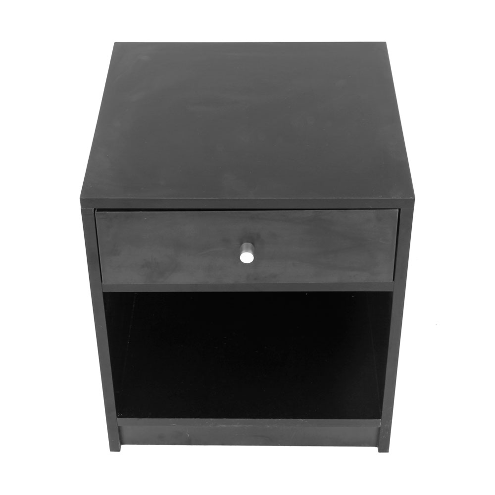 Modern Nightstand Set Black End Table Bedroom Furniture Shelf 1 Drawer  Storage 320015428898 | EBay