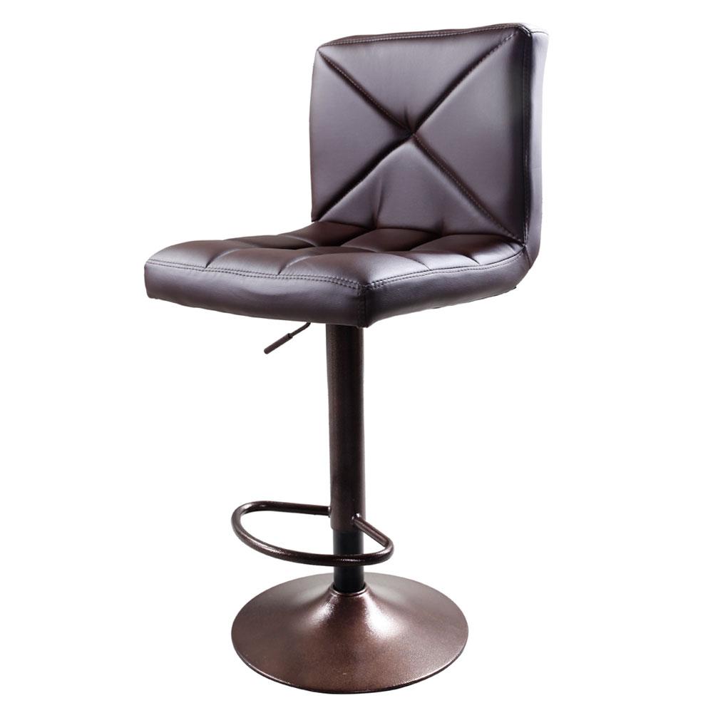 New 2 Pu Leather Modern Adjustable Swivel Barstools