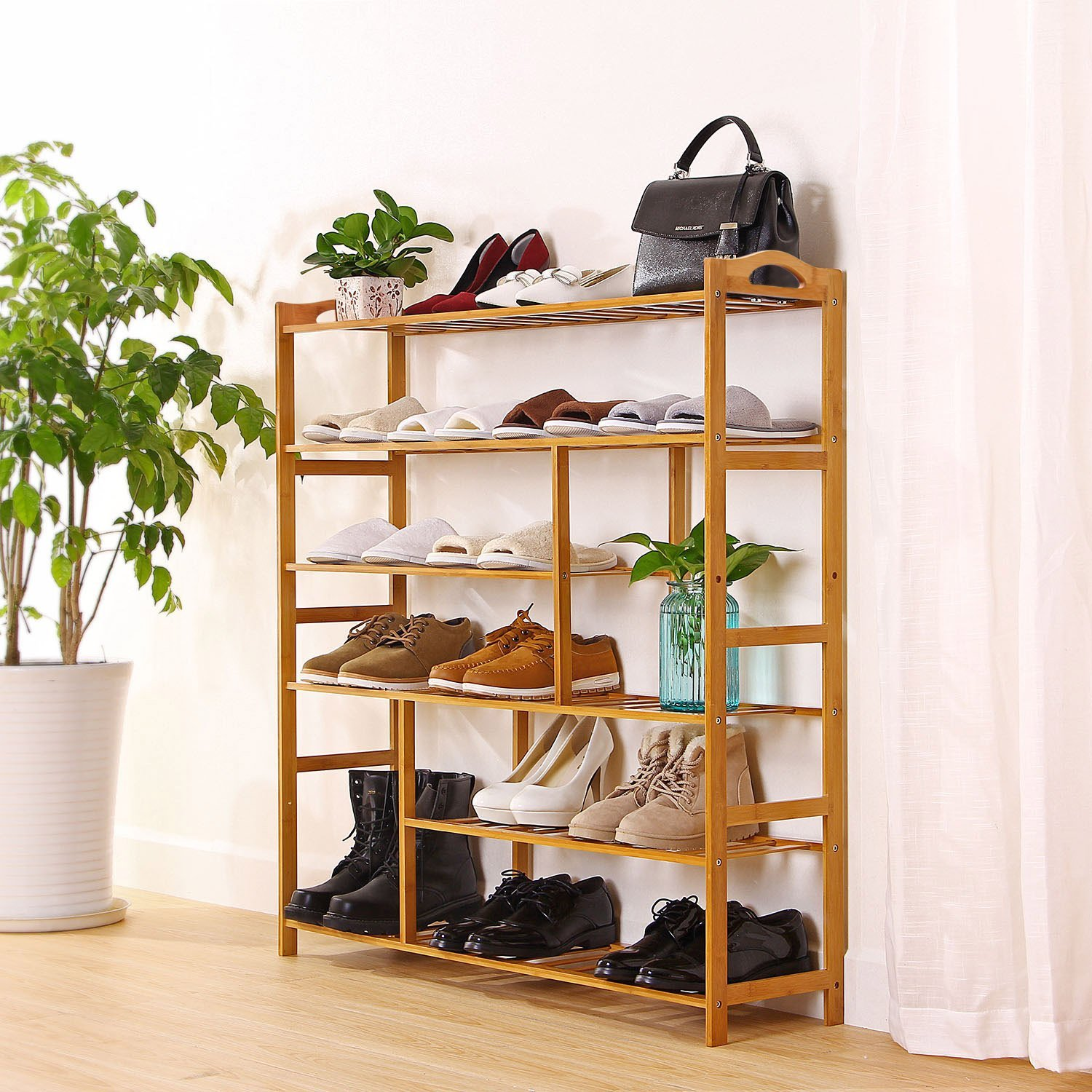 the organizer main two wood products bamboo shelf storage image bathroom store tiered rack shower head