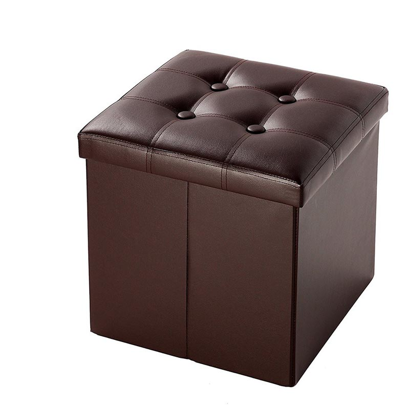 Incredible Details About Foldable Faux Leather Storage Ottoman Square Cube Foot Rest Stool Seat 15 X 15 Gamerscity Chair Design For Home Gamerscityorg