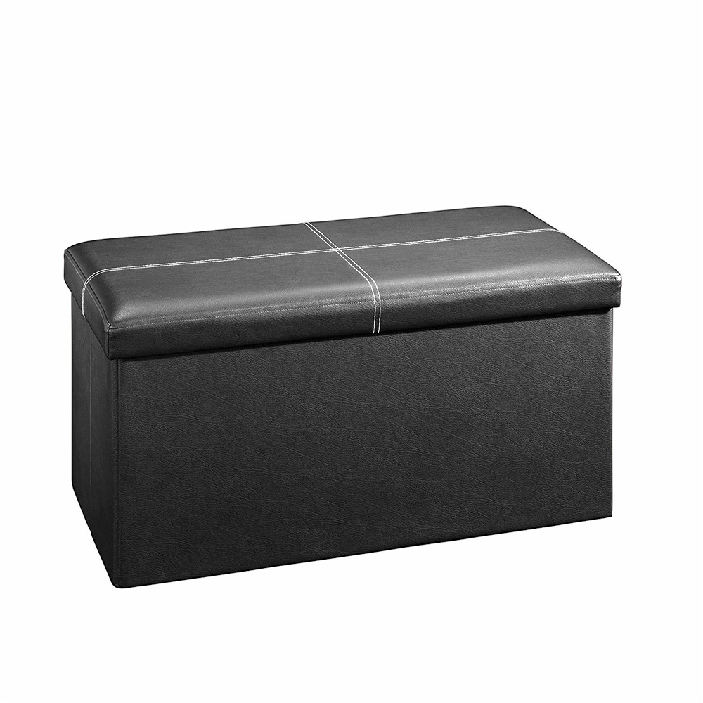 Groovy Details About 30 X 15 X 15 Ottoman Pouffe Storage Box Lounge Seat Footstools Caraccident5 Cool Chair Designs And Ideas Caraccident5Info
