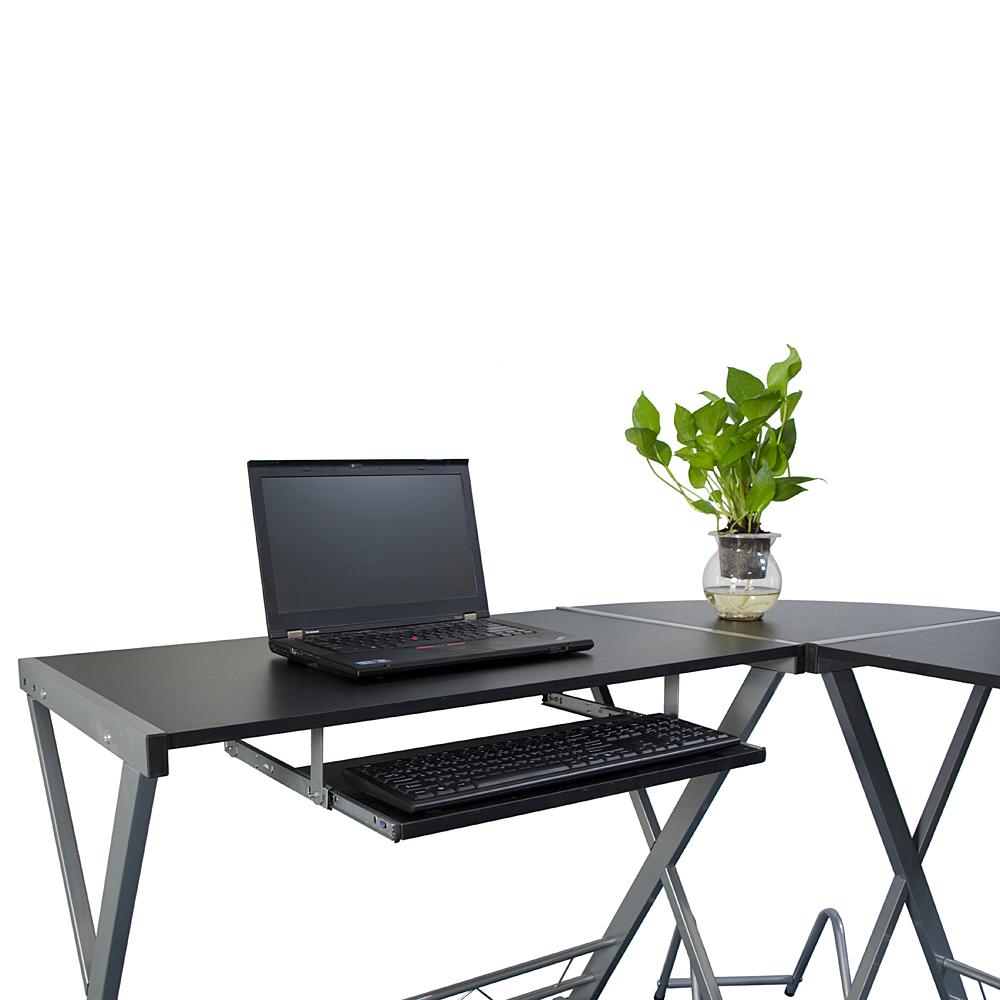 All Wood Office Desk: New L Shaped Desk Office Computer Wood Corner Desk With