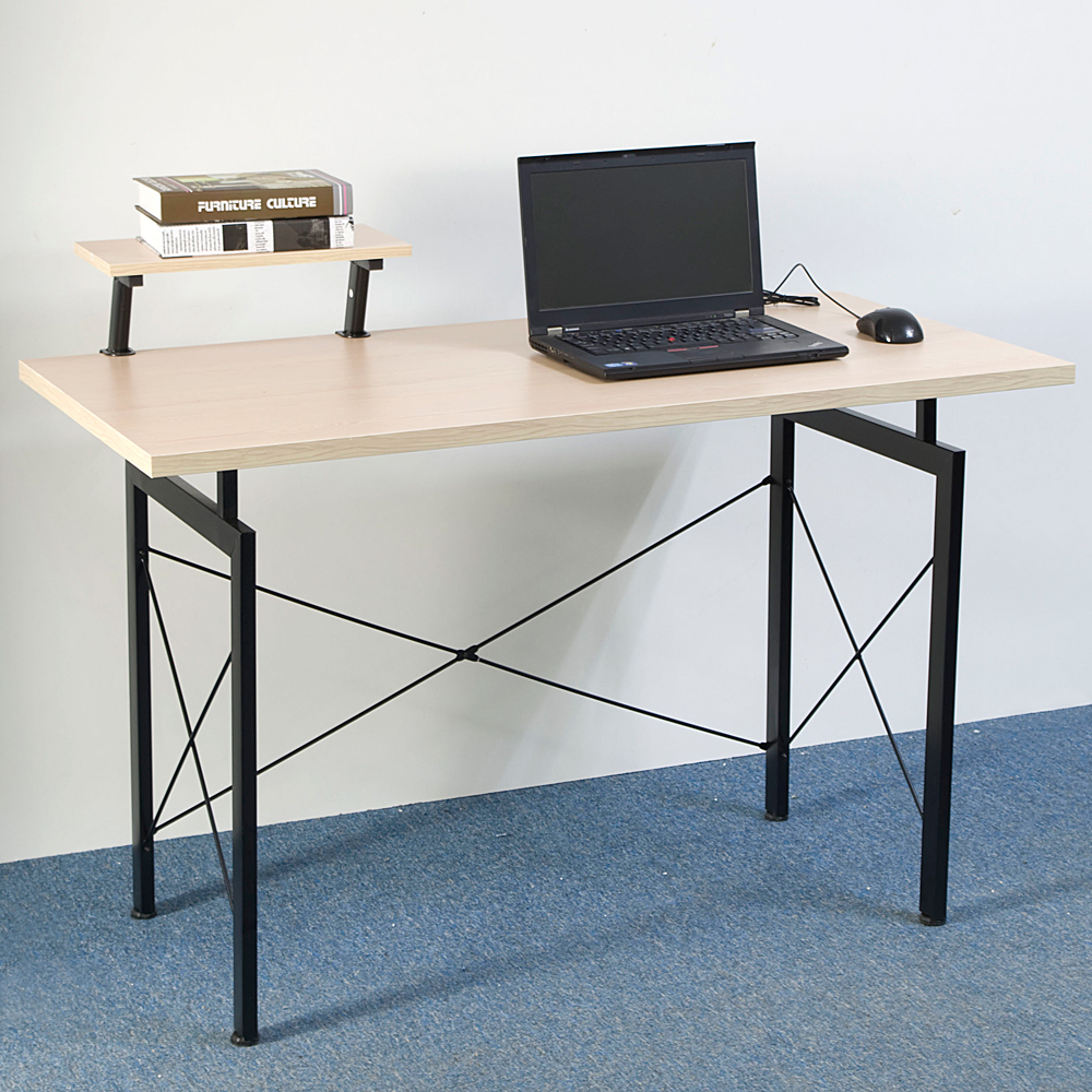 Concise Computer Desk Wood Home Office Workstation Laptop PC Table ...
