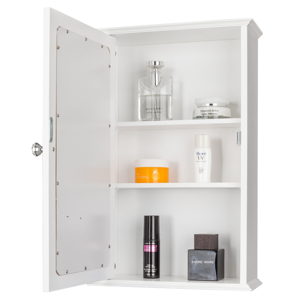 Modern Bathroom Wall Cabinet with Single Mirror Door Organizer ...