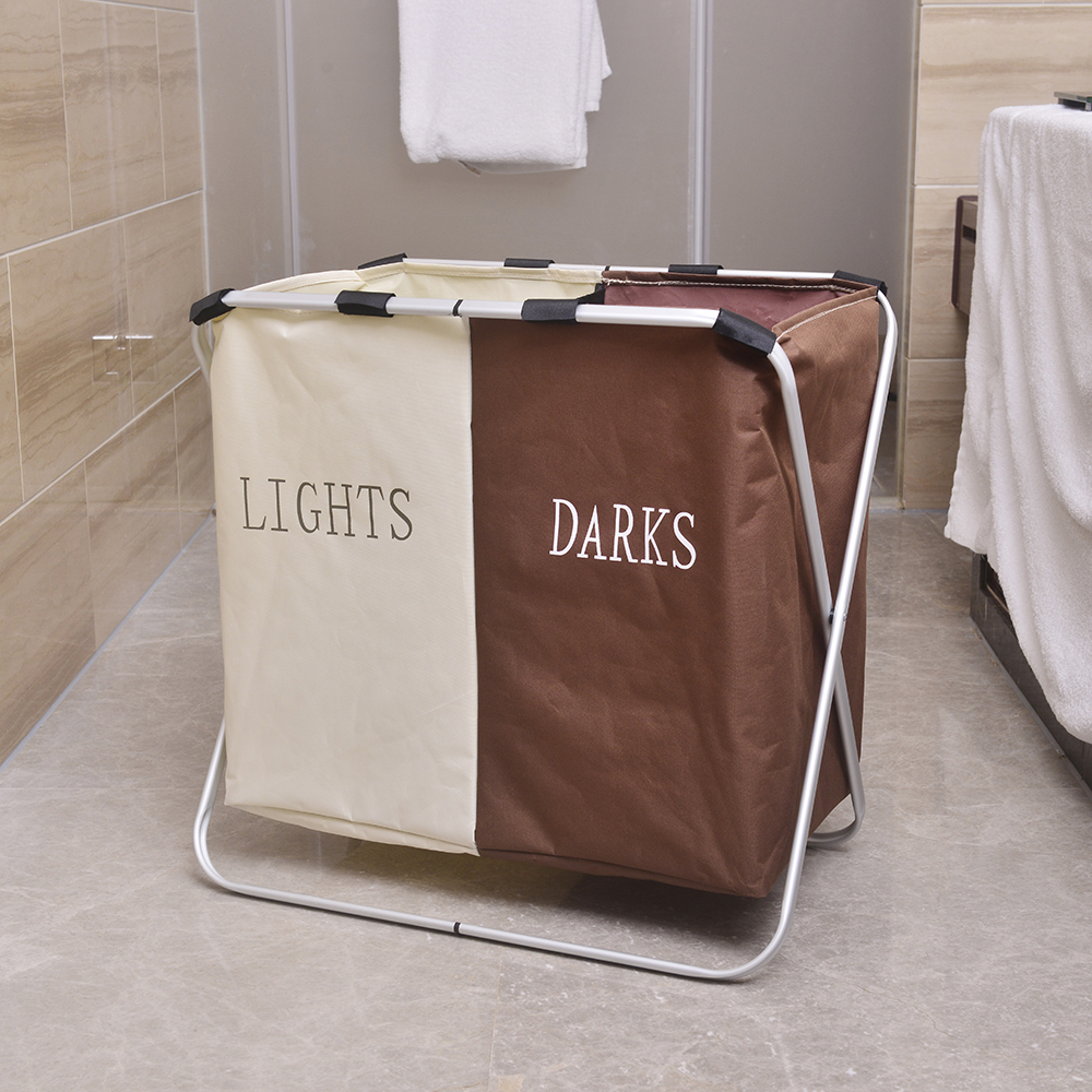 cloth dirty folding double lattice dirty clothes storage laundry basket