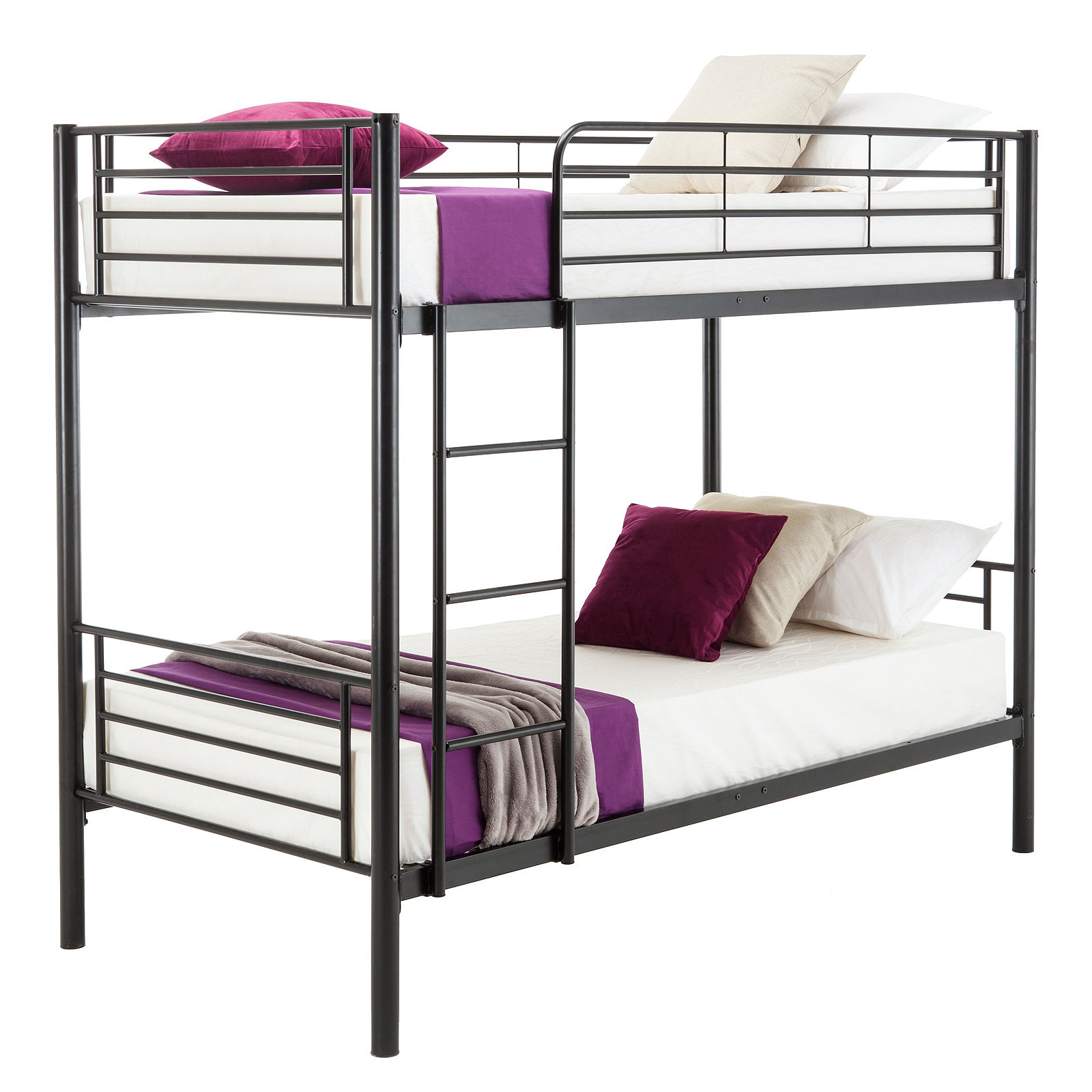 Metal Twin over Twin Bunk Beds Frame Ladder Kids Adult Children ...