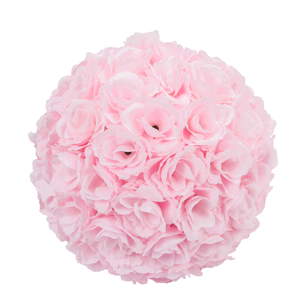 25cm New Flower Ball Rose Silk Wedding Bridal Favor Ball Home