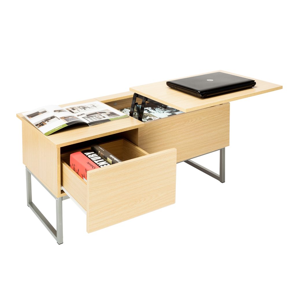 Lift Top Coffee Table With Hidden Storage Compartment: Foldable Wood Lift Top Coffee Table Tea Desk Storage Tray