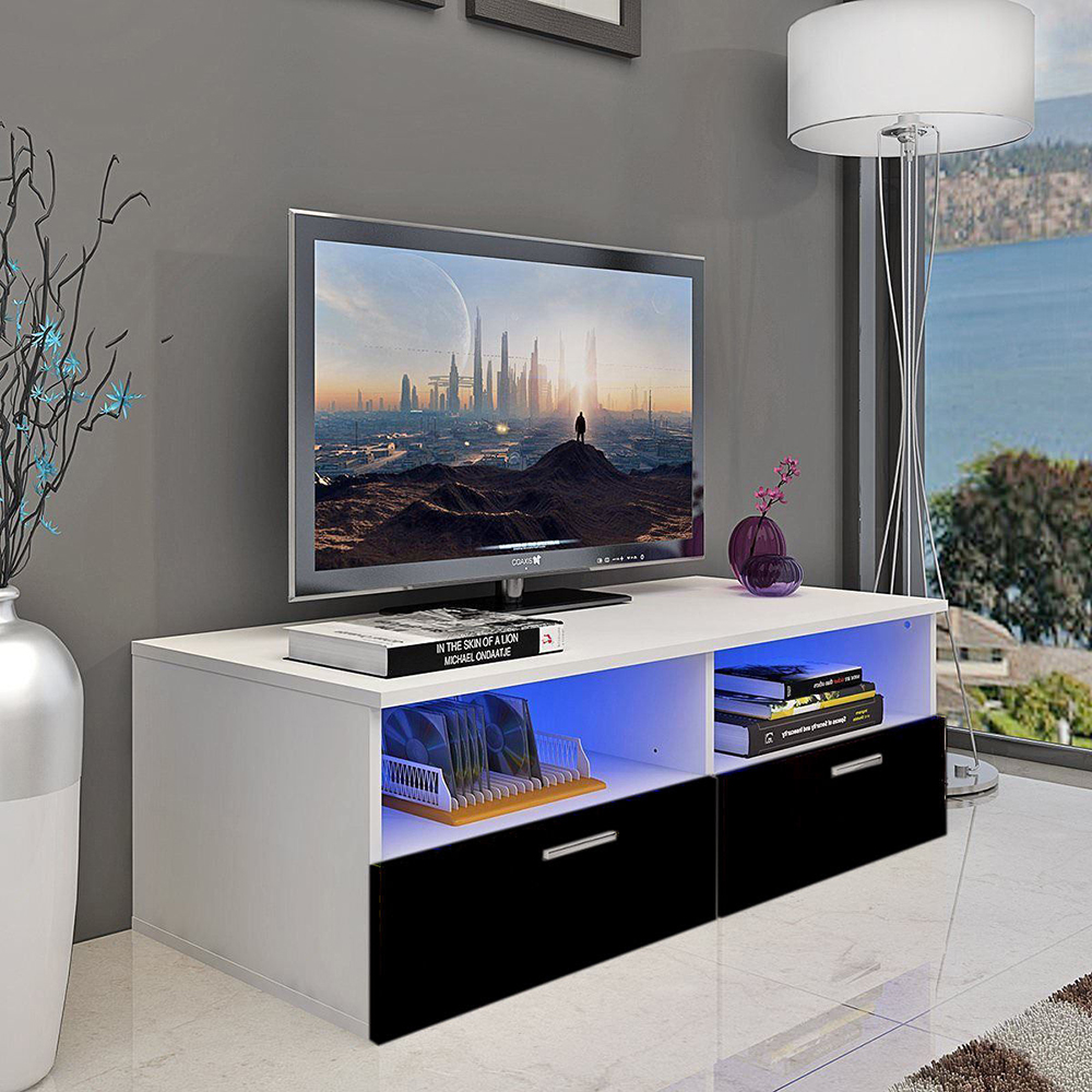 High Gloss Modern TV Stand Unit Media Entertainment Center LivingRoom  Furniture