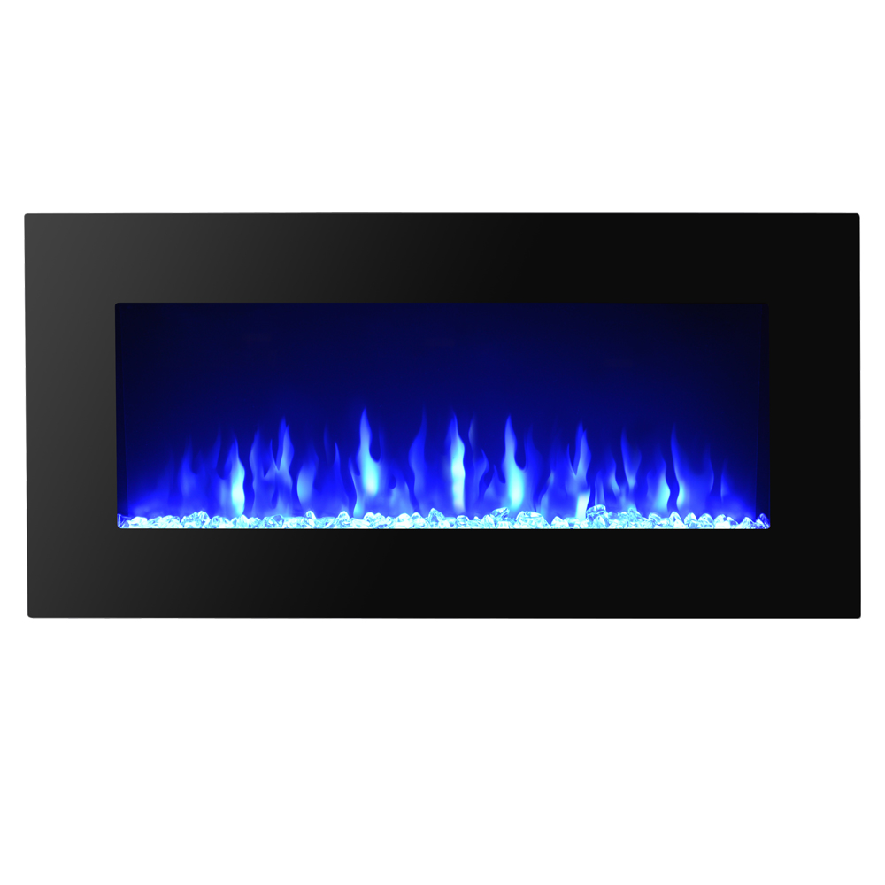 Heat adjustable 36 wall mount electric fireplace multicolor led backlight ebay - Space saving corner electric fireplace providing warmth for your small space ...