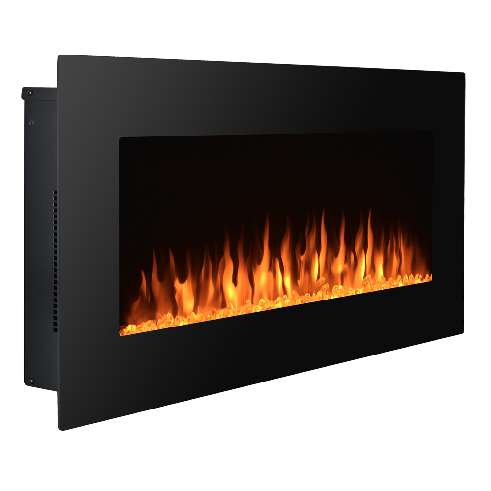 """Fireplace Doesnt Heat: Heat Adjustable 36"""" Wall Mount Electric Fireplace"""