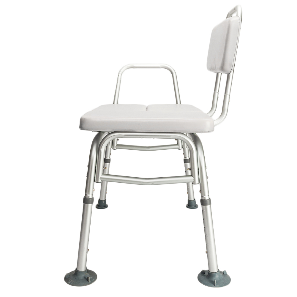 Easily Adjustable Medical Shower Chair W/Padded Seat & Backrest Bath ...