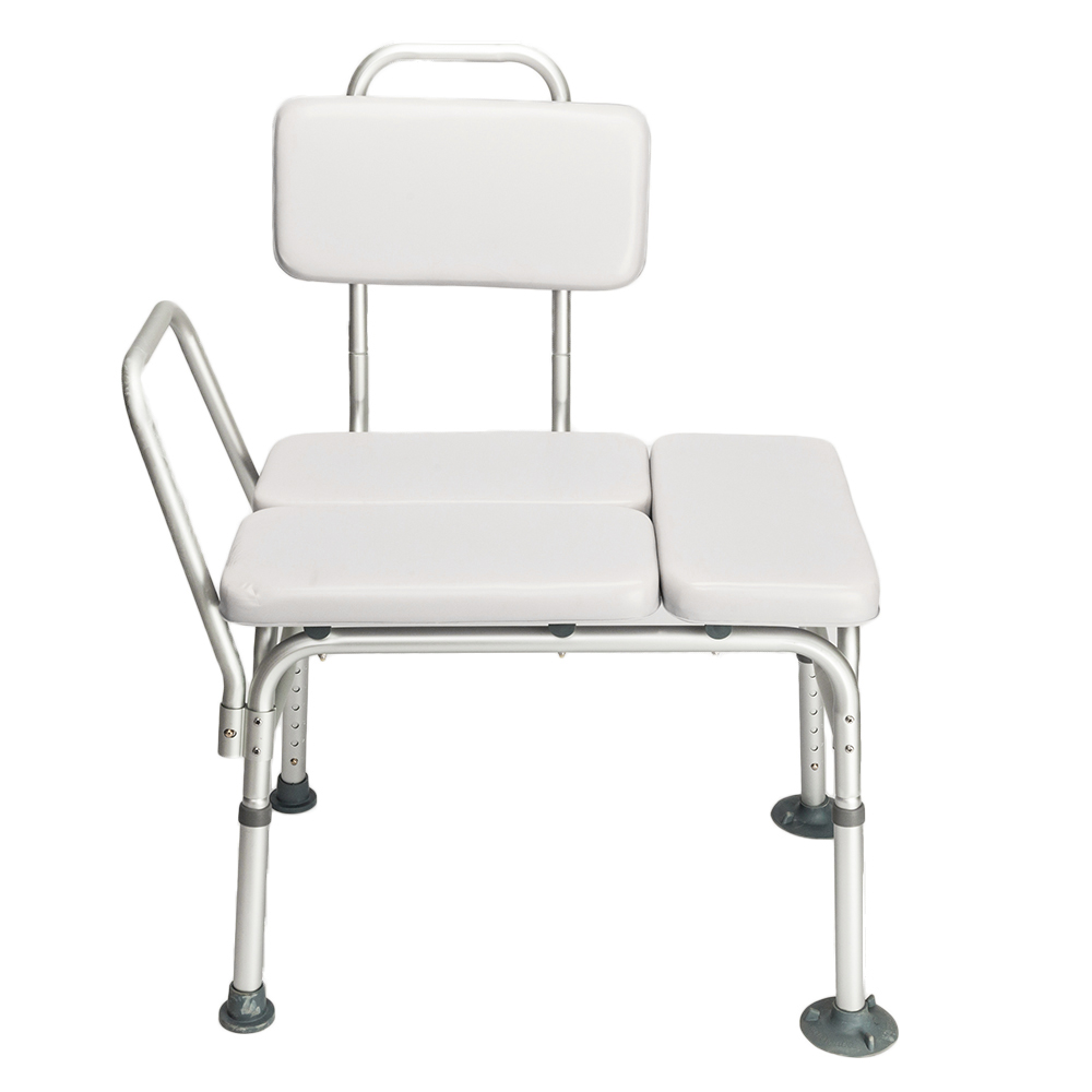 Easily Adjustable Medical Shower Chair W/Padded Seat & Backrest Bath ...
