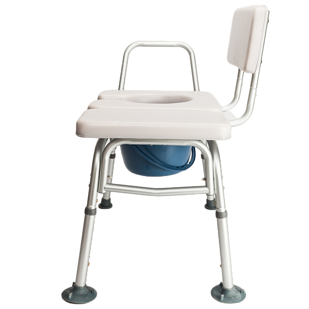 Bedside Commode Chair Shower Bathroom Potty Stool Adult Toilet ...