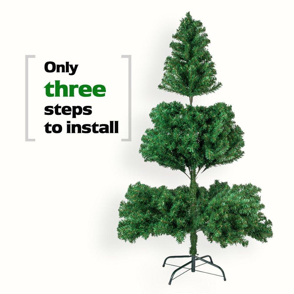 5.5/6/7/ Feet Tall Christmas Tree W/Stand Holiday Season Indoor ...