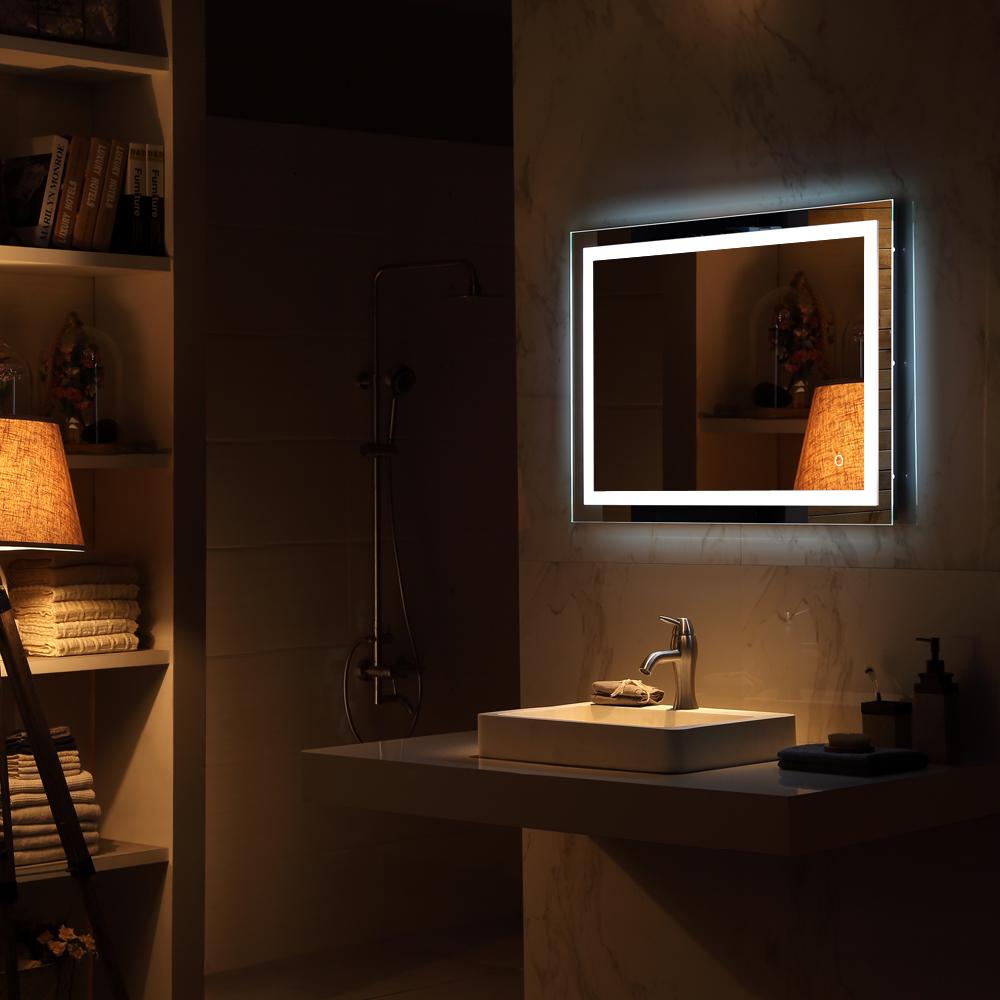 LED Mirror Illuminated Light Backlit Wall Mount Bathroom Make Up ...