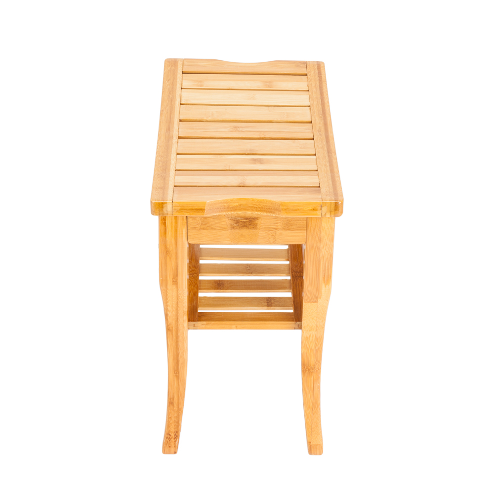 Bamboo Shower Bench Bath Spa Sauna Seat W Wood Storage