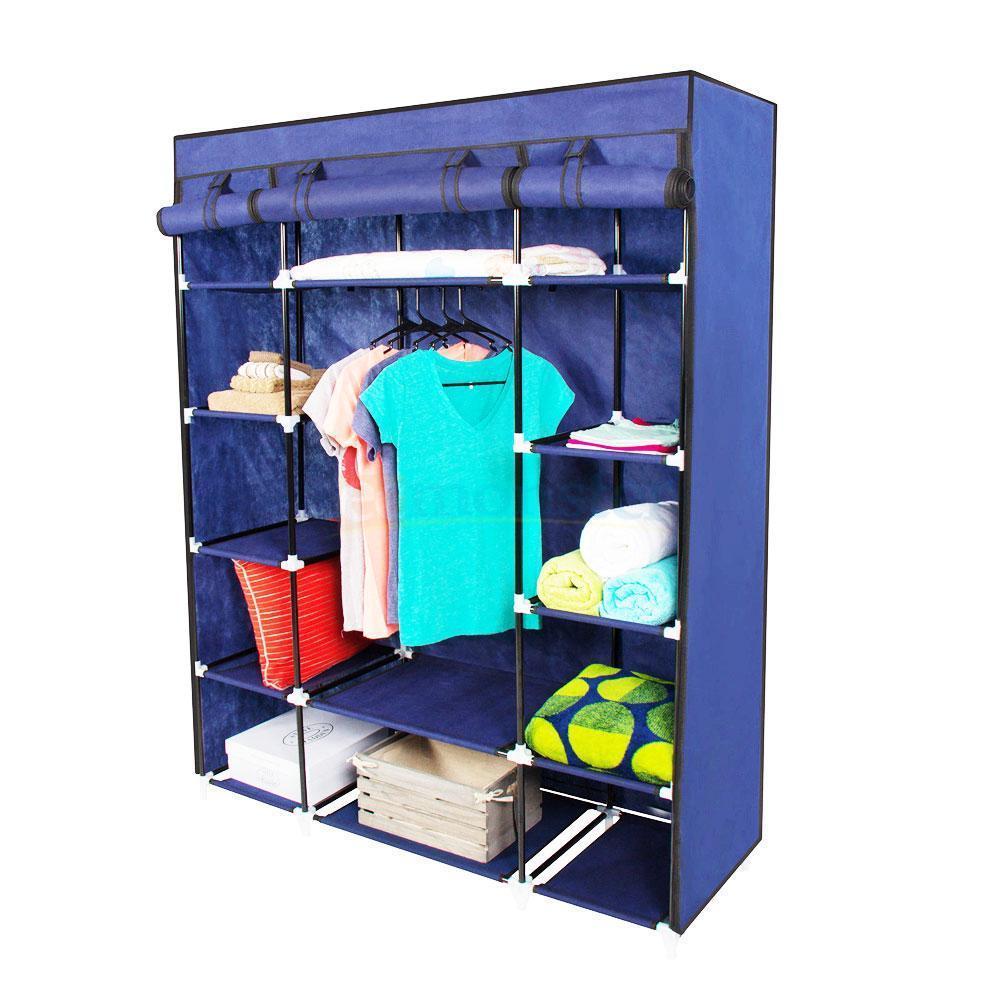 New Portable Closet Wardrobe Clothes Rack Storage