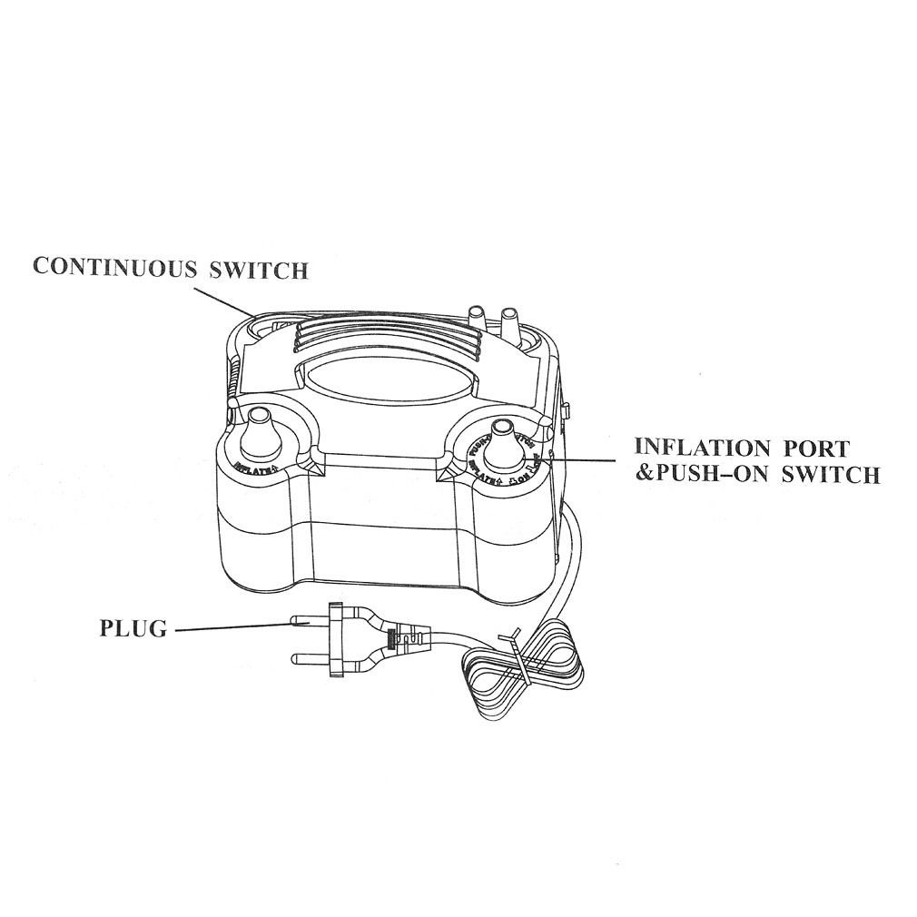 portable double high speed electric balloon air pump