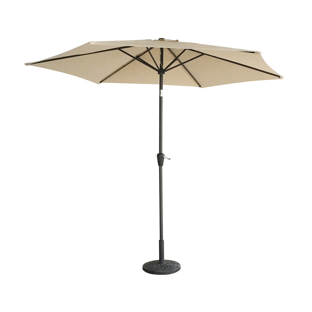 9ft aluminum patio umbrella market sun shade steel tilt w crank outdoor new. Black Bedroom Furniture Sets. Home Design Ideas