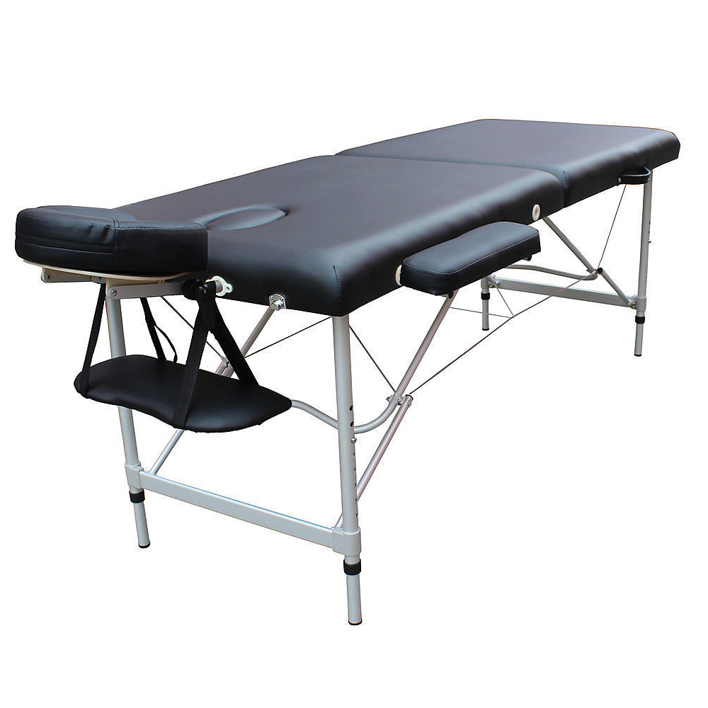 Folding facial bed spa beauty salon portable massage table for Beauty salon bed