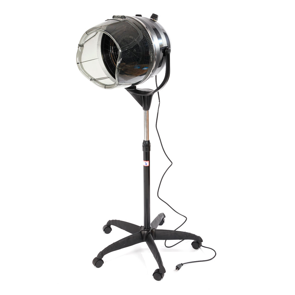 Adjustable Stand Up Hood Floor Hair Bonnet Dryer Rolling ...