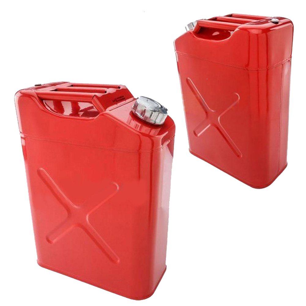 20l liter 5 gallon gal red jerry steel tank fuel can gas storage gasoline new ebay. Black Bedroom Furniture Sets. Home Design Ideas