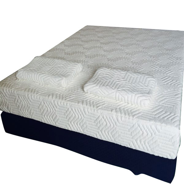 10 traditional firm memory foam mattress bed two layer queen size with 2 pillow ebay. Black Bedroom Furniture Sets. Home Design Ideas